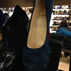 Louboutin suede pumps, $767 (originally $1,095)