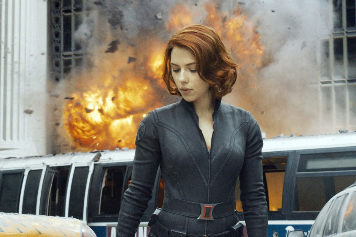Scarlett Johansson in Black Widow.