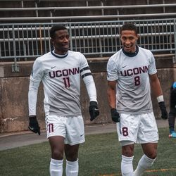 UConn men's soccer vs. the Rhode Island Rams in the first round of the 2018 NCAA Tournament.