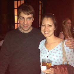 Eater co-founder Lockhart Steele with former Houston editor Amber Ambrose