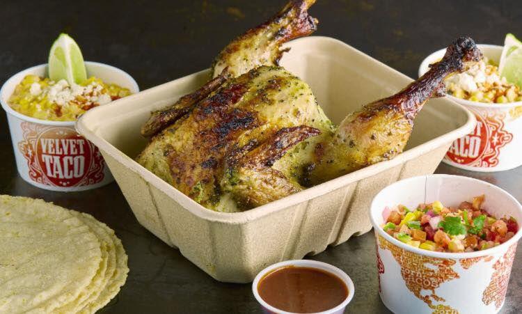 Velvet Taco's chicken meal
