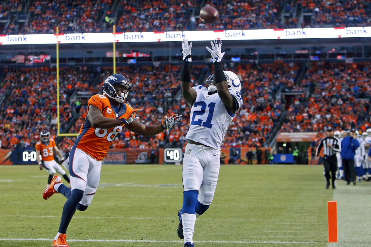 Vontae Davis was inches away from an even better stat-line with this near-interception.