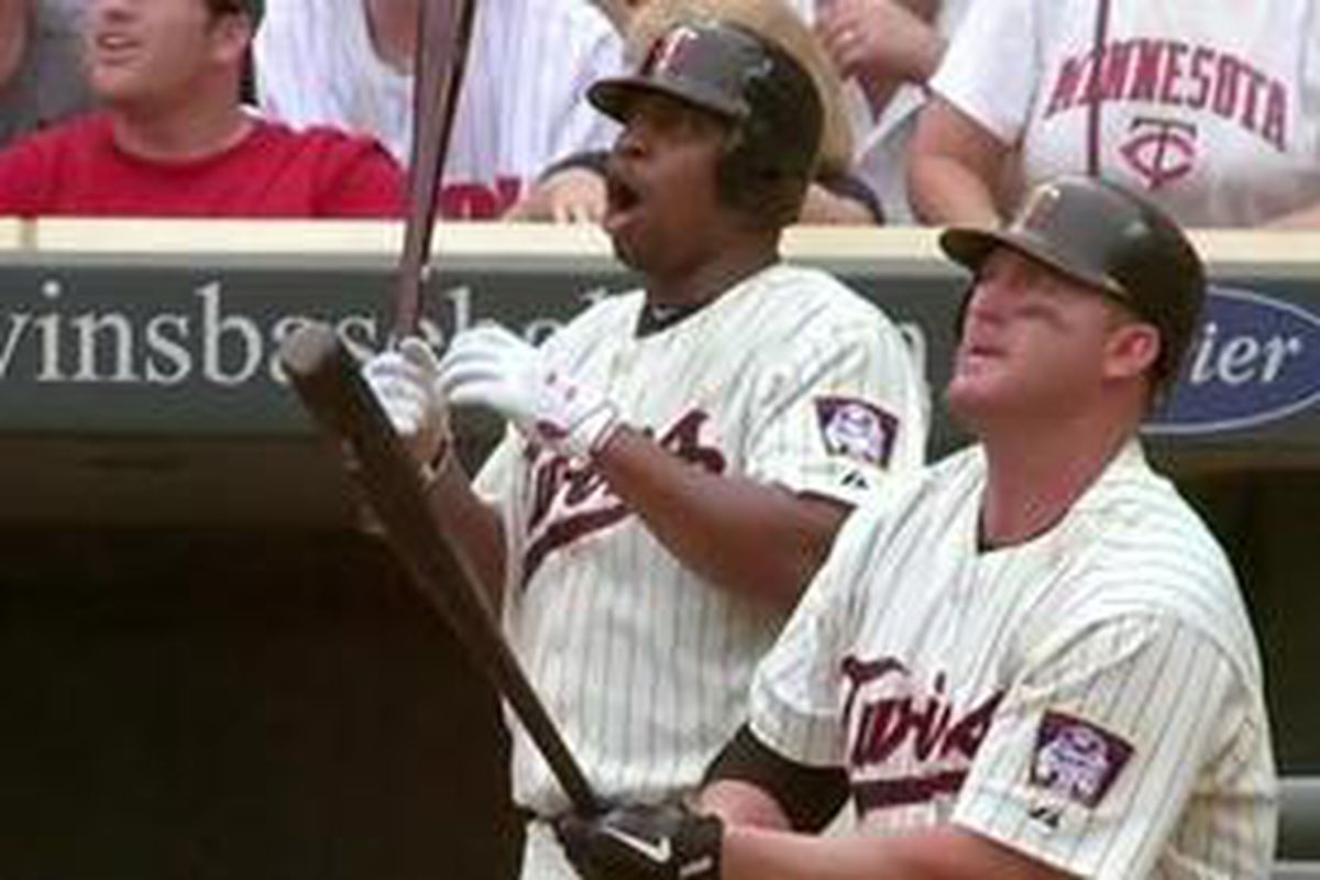 """This may be the single greatest reaction to a home run ever. (Picture via <a href=""""http://www.twinkietown.com/2011/7/17/2280193/twins-4-royals-3-thome-hits-career-homer-596-as-twins-move-within"""" target=""""new"""">Twinkie Town</a>)"""