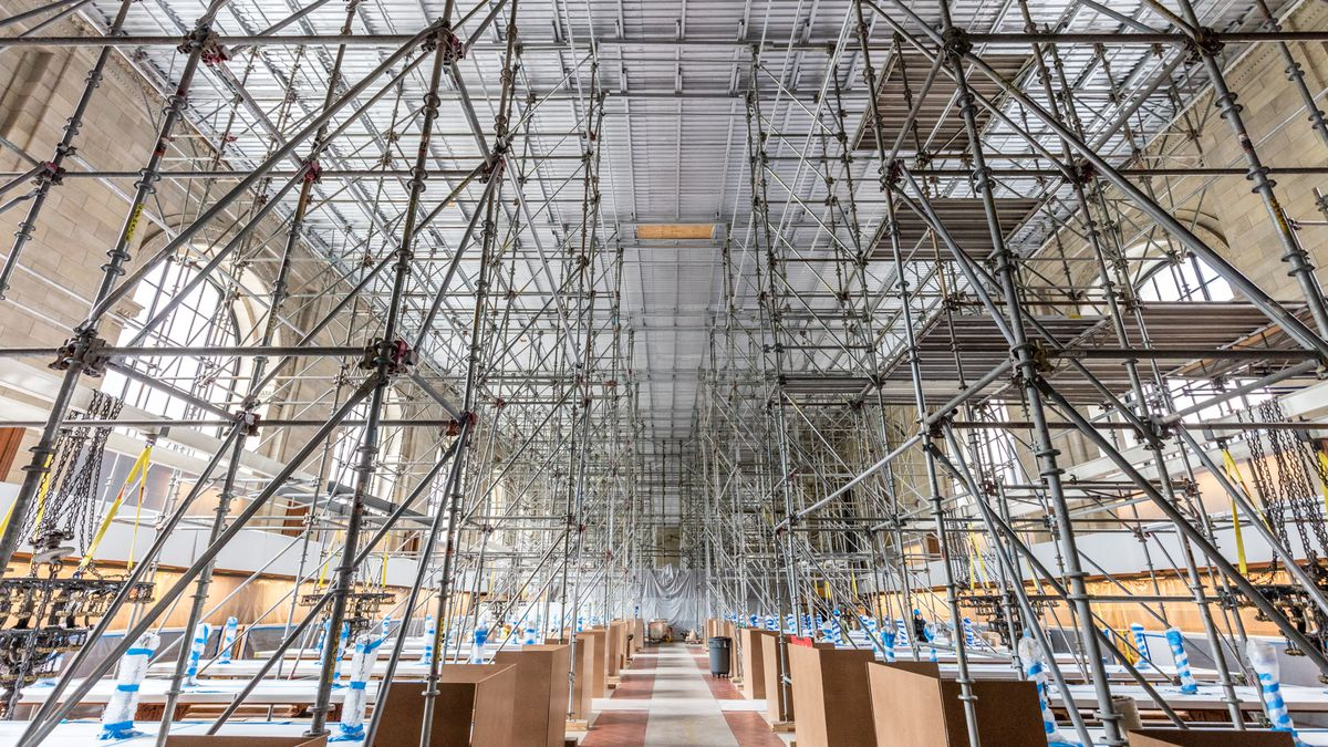 Scaffolding in the Rose Main Reading Room