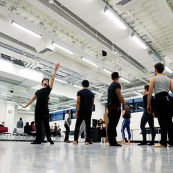 Ballet West dancers rehearse for their presentation of the Nutcracker on Wednesday, Nov. 15, 2017.