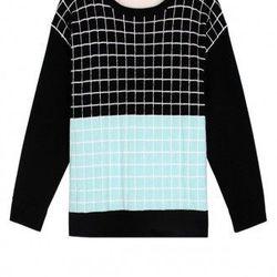 """Tibi Grid Blocks Sweater, <a href=""""http://www.tibi.com/shop/grid-blocks-sweater"""">$250</a>"""