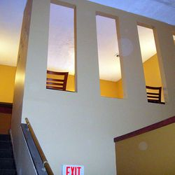 Steps to private dining room
