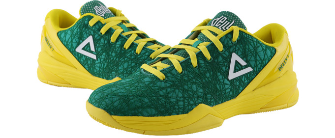 586a280b02db ... expect from a Dellavedova shoe. There are Peak R and Peak S pads in the  soles allowing for more bounce and explosiveness when diving for loose  balls and ...