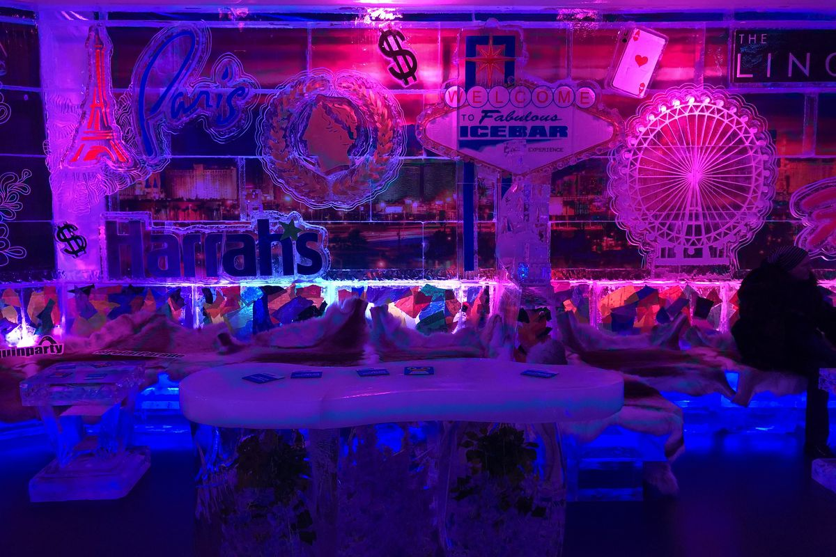 A scene inside Icebar