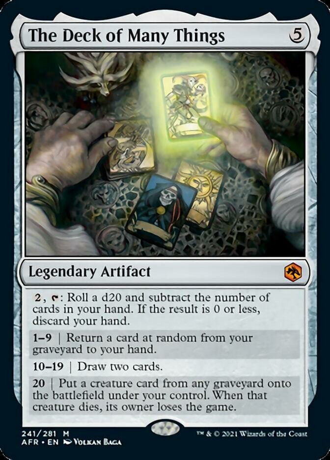 The Deck of Many Things, an Artifact for Magic.