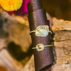 Kathleen Whitaker 'Foil' rings in 14k gold, $345 to $435