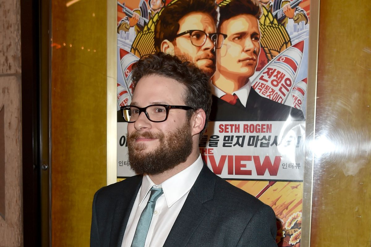 LOS ANGELES, CA - DECEMBER 11:  Actor Seth Rogen attends the Premiere of Columbia Pictures' 'The Interview' at The Theatre at Ace Hotel Downtown LA on December 11, 2014 in Los Angeles, California.  (Photo by Kevin Winter/Getty Images)