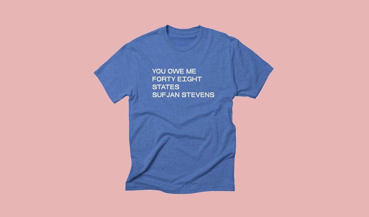 "The Abyss' Curio Shop ""You Owe Me Sufjan Stevens"" T-Shirt, $25"