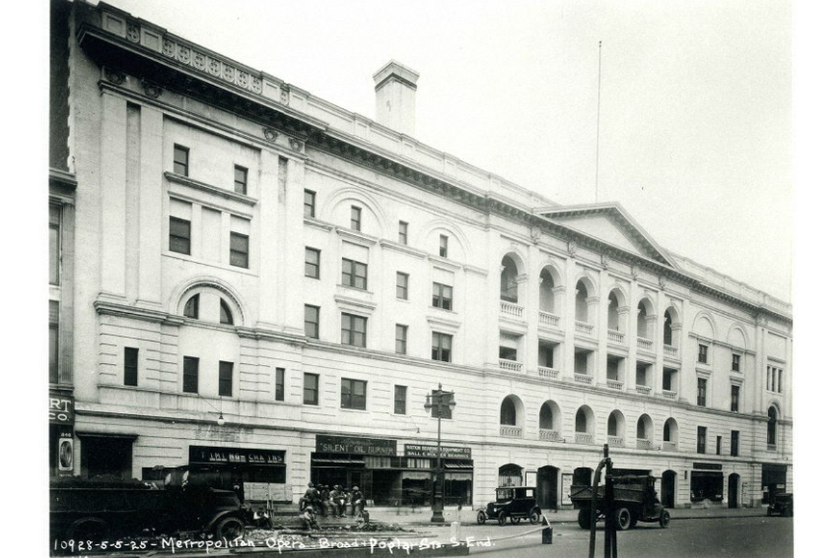 The Philadelphia Metropolitan Opera House, built in 1908, was added to the National Register of Historic Places in 1972.