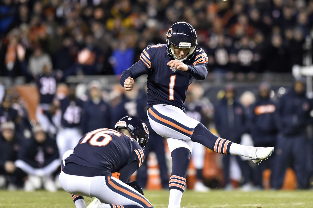 Cody Parkey s kick was tipped before clanking off the uprights on Sunday.  Quinn Harris-USA TODAY Sports 739e18e6f
