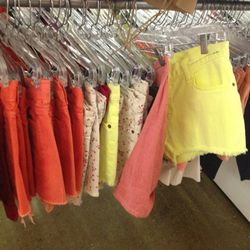 Lots of colorful and printed cut-off options, primarily from <b>Citizens of Humanity</b>