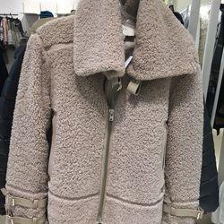 Iro shearling jacket, size 42, $699.60 (was $2,910)