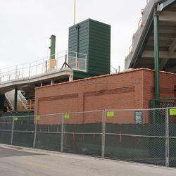 Left field corner, on Waveland Avenue