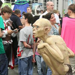 Weta Workshops displays a Gollum sculpture at Salt Lake Comic Con. The three-day event hosted hundreds of vendors at the Salt Palace Convention Center.