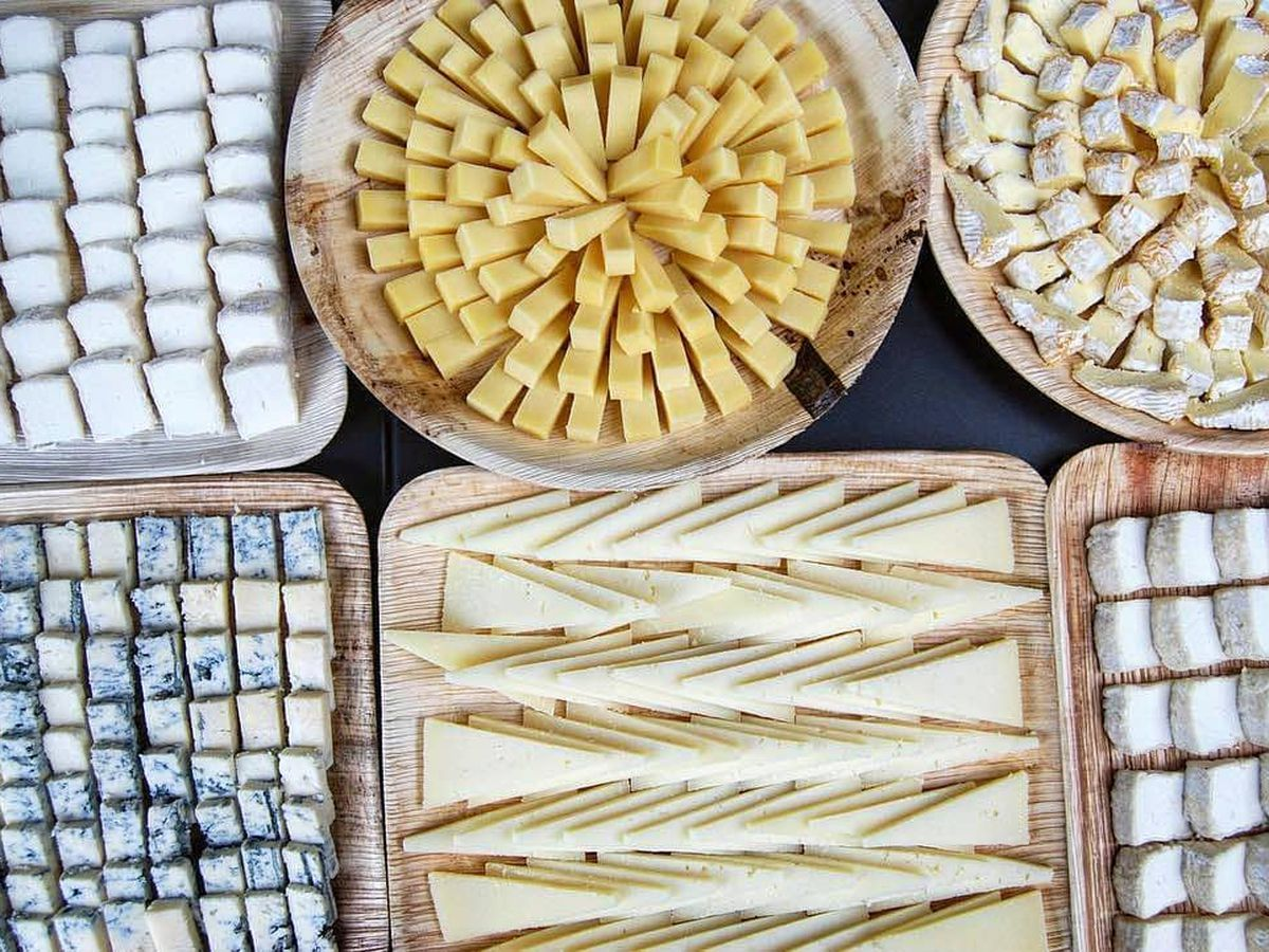 Blue, cow's, and goat's cheese at La Fromagerie, one of the best places to eat cheese in London