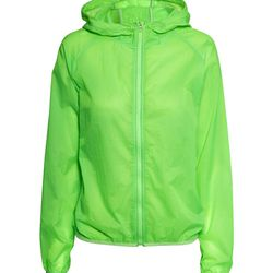 """<b>H&M</b> lightweight jacket with hood in neon green, <a href=""""http://www.hm.com/us/product/29730?article=29730-A&cm_vc=GOES_WITH_PD#"""">$34.95</a>"""