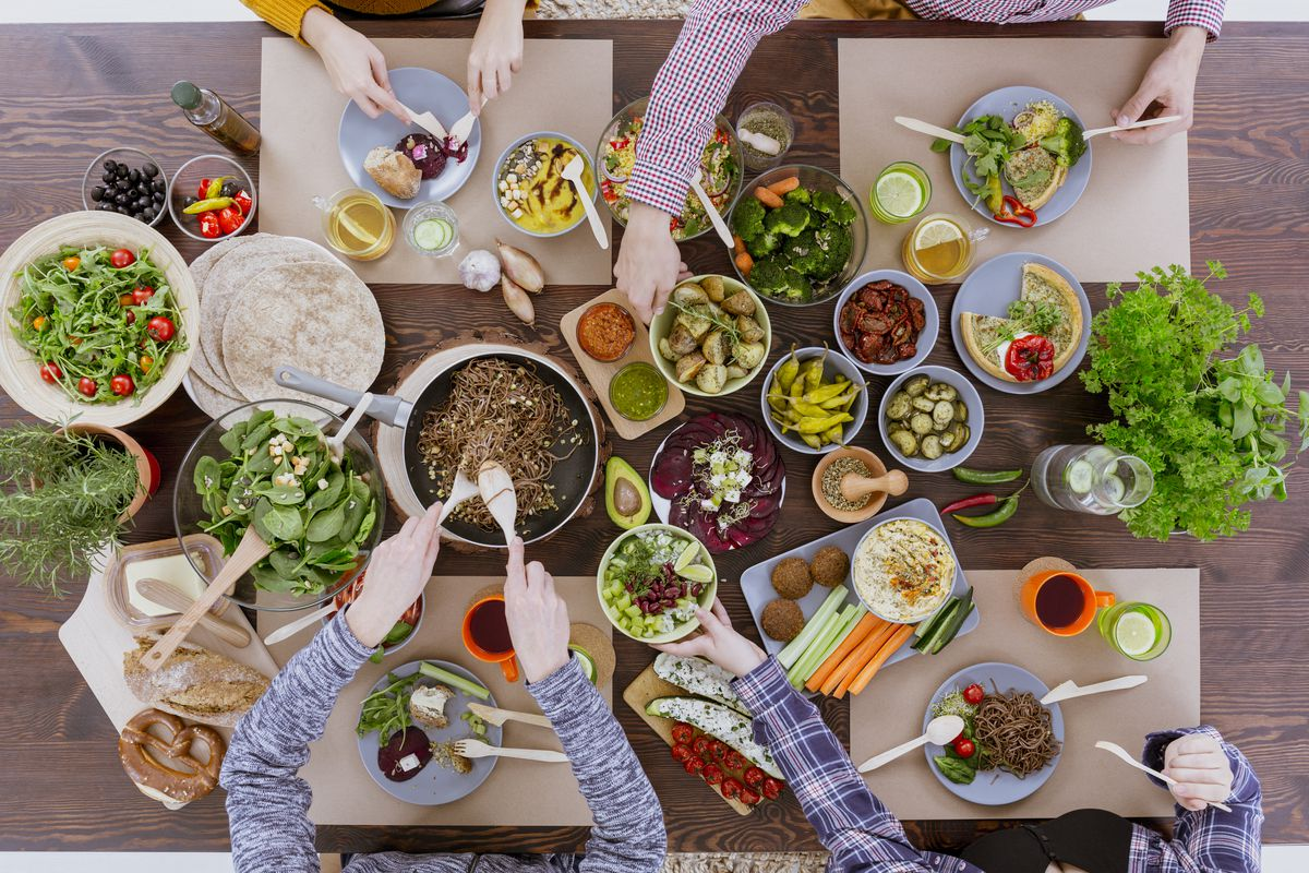 A stock photo of vegetarian dishes
