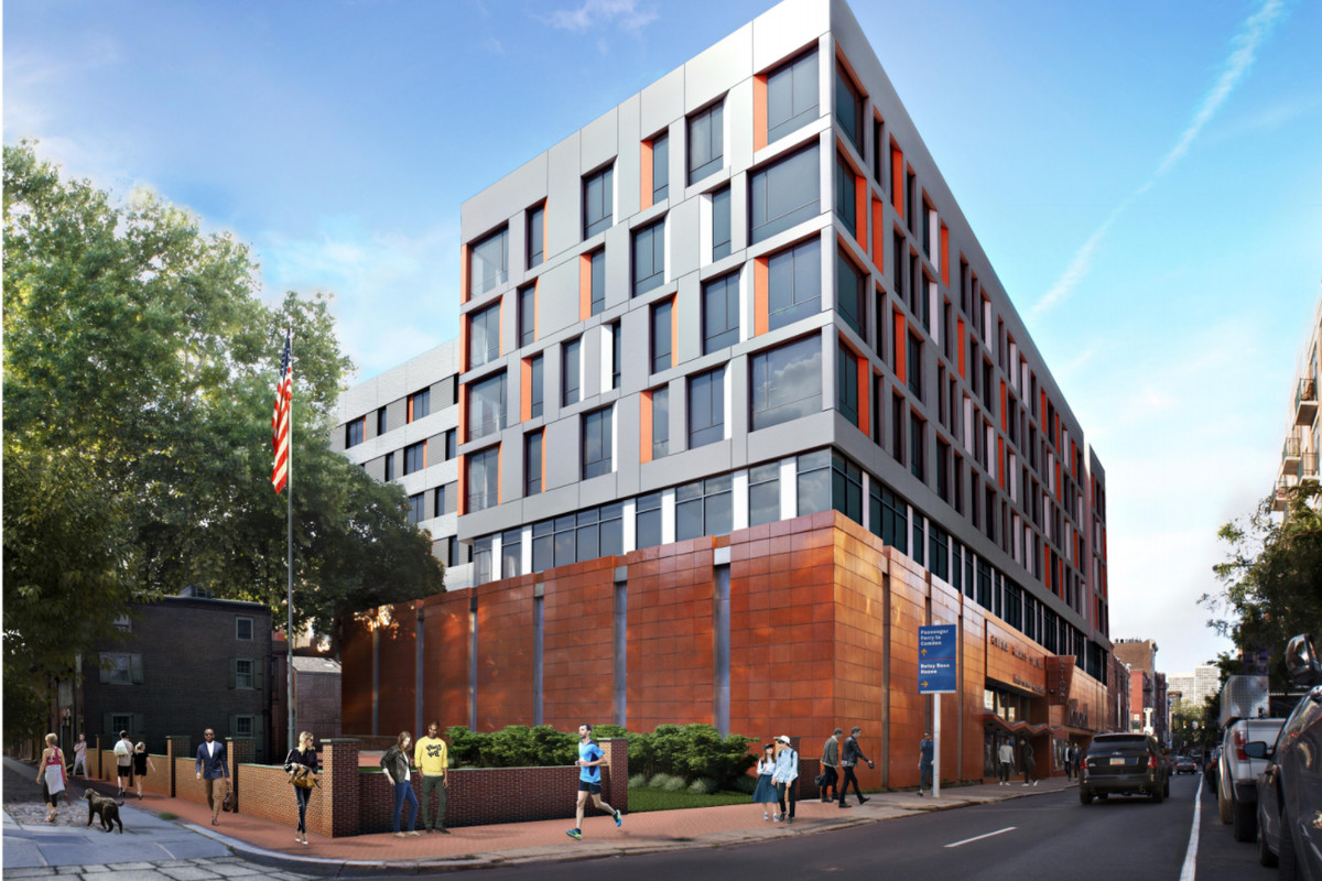 The National site will begin construction this week on its mixed-use,  six-story building. Rendering by Barton Partners