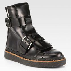 "<b>Marni</b> Leather Double-Buckle Military Boots, <a href=""http://www.saksfifthavenue.com/main/ProductDetail.jsp?FOLDER%3C%3Efolder_id=2534374306442285&PRODUCT%3C%3Eprd_id=845524446604414&R=441994468658&P_name=Marni&N=306442285&bmUID=kc8Nyo1"">$742</a> (f"