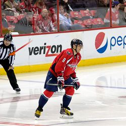 Ovechkin Before Faceoff
