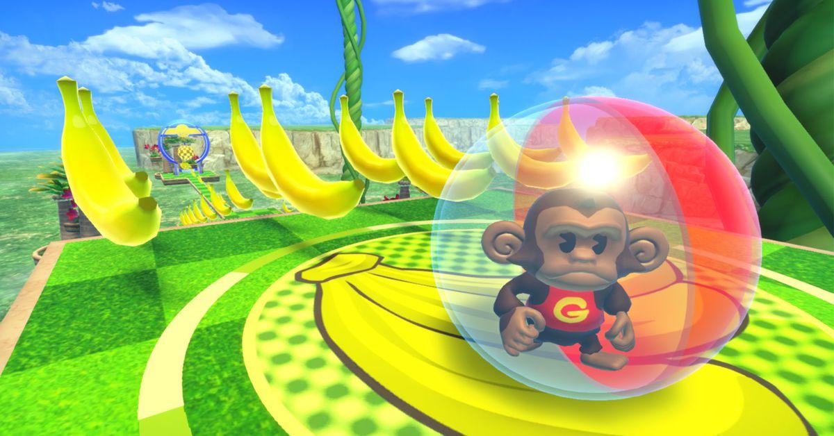 I'm split by Super Monkey Ball Banana Mania