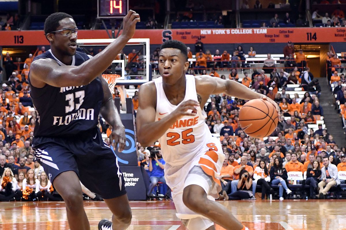 finest selection 6a139 22ae2 Syracuse men's basketball hosting North Florida on December ...