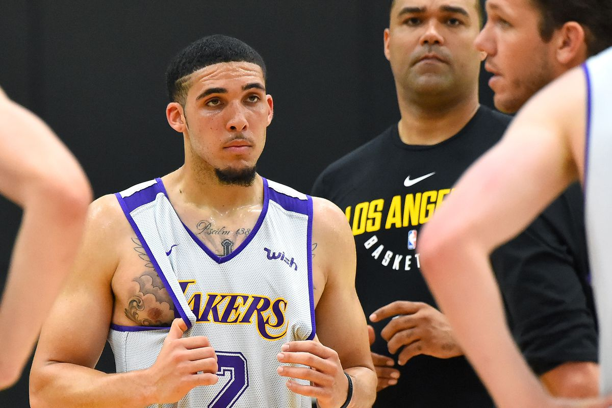 half off df551 e5f3a Lakers tell LiAngelo Ball he will not be on their summer ...