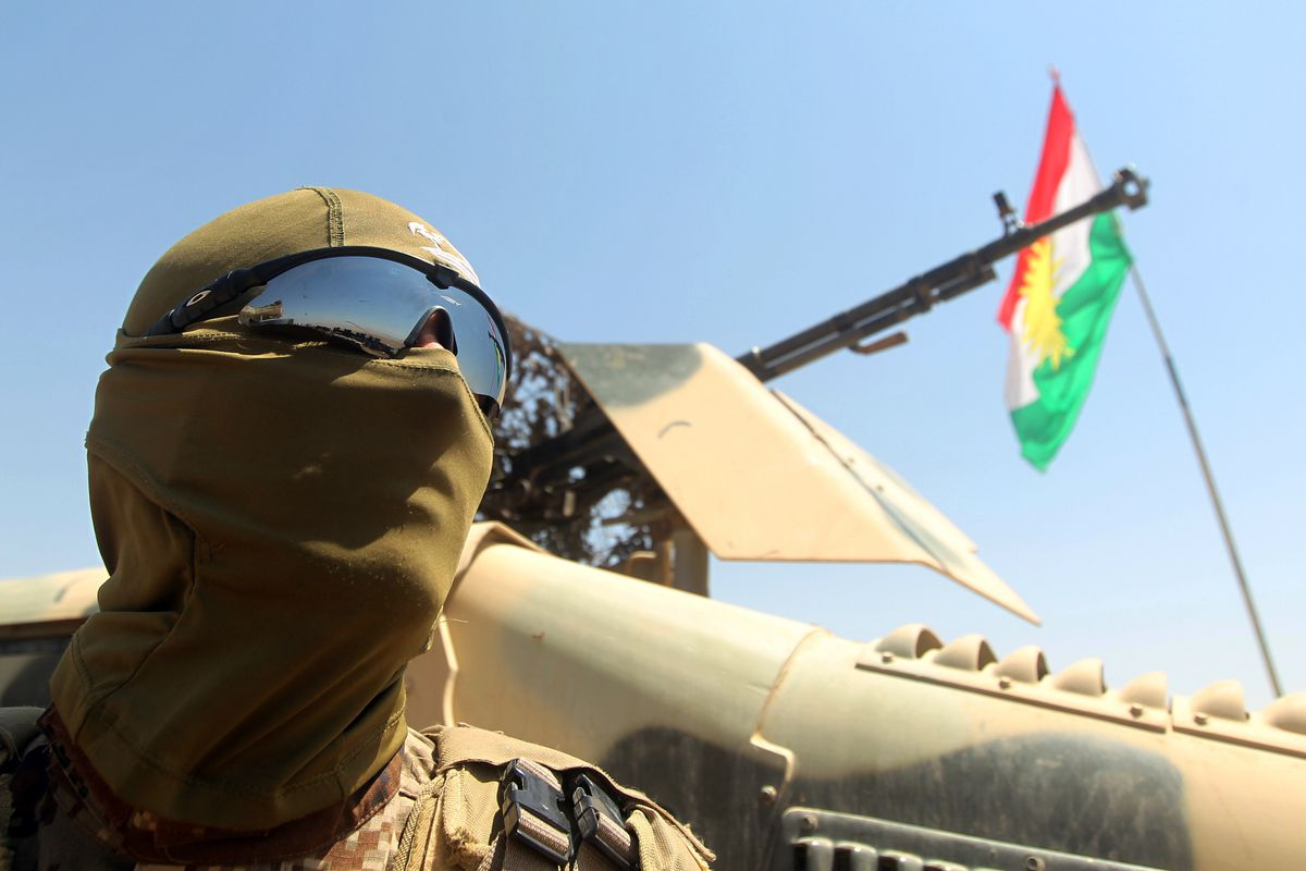 Peshmerga near the Mosul Dam.