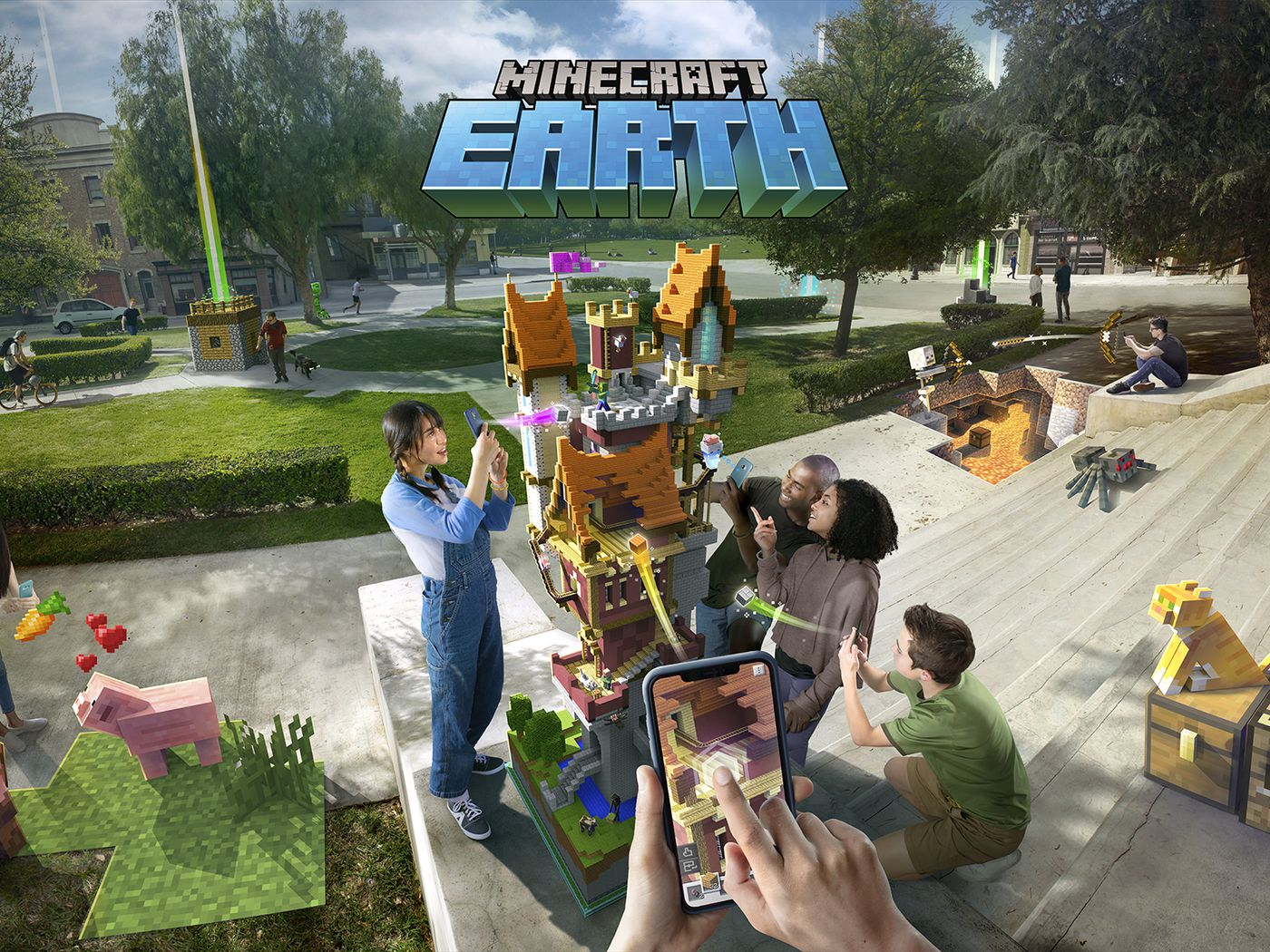 Minecraft Earth for iOS and Android goes a step beyond Pokémon Go