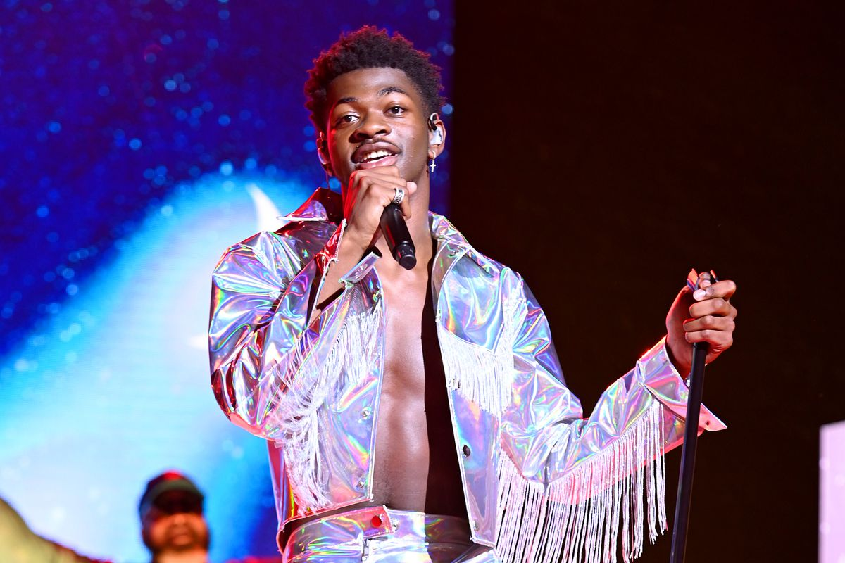 Lil Nas X performs on stage in New York City in July.