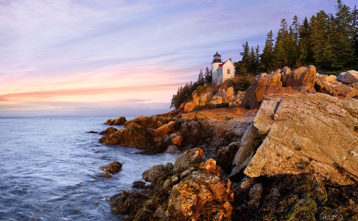 The Bass Harbor Lighthouse in Acadia National Park