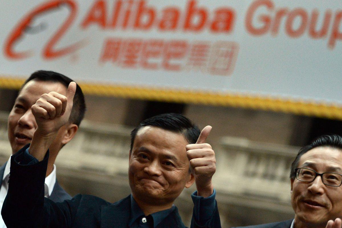 Jack Ma, CEO of Alibaba, now the richest man in China. Image via Getty.