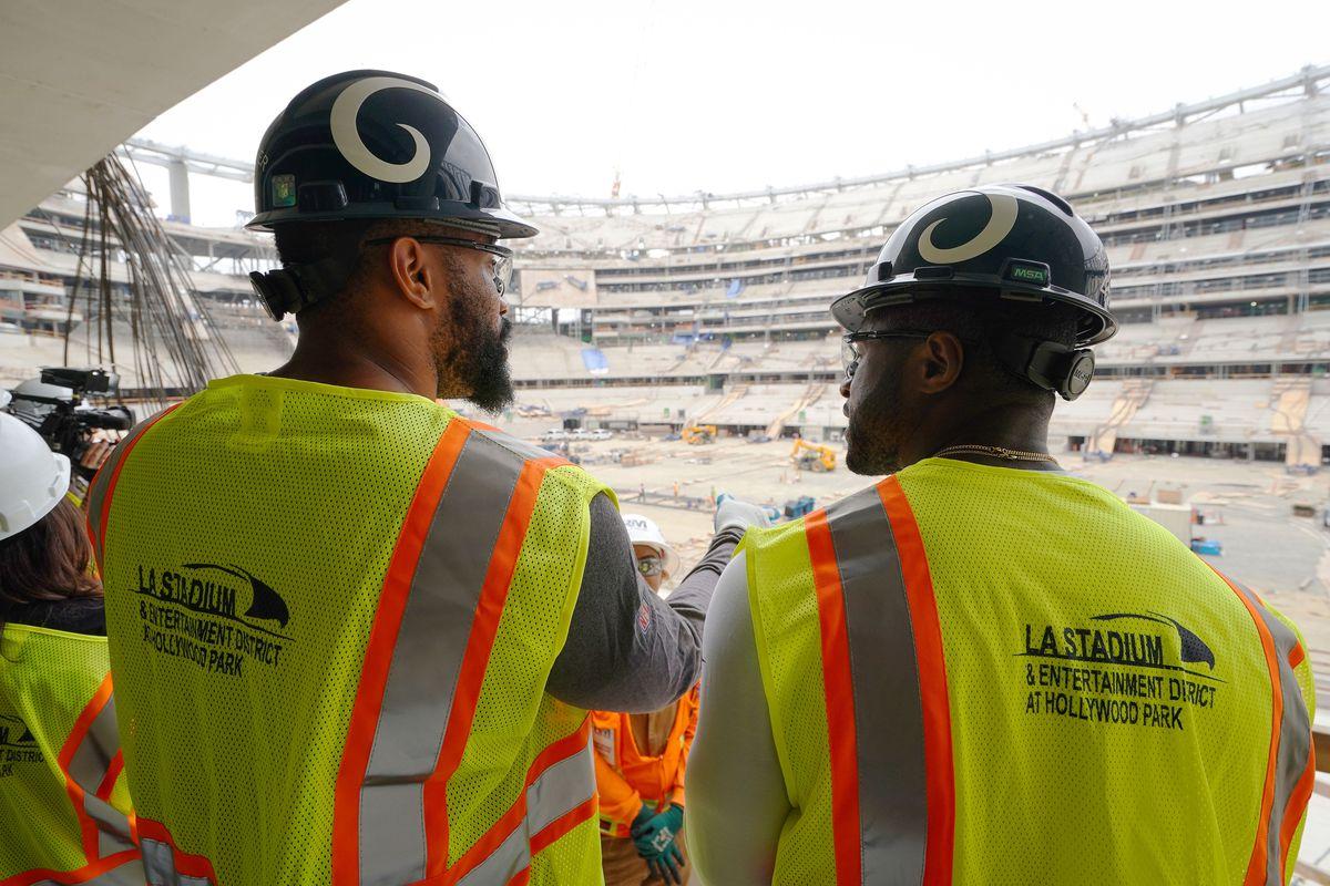 Rams Rookies Tour New LA Stadium Construction