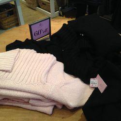 Sweaters, $107.40