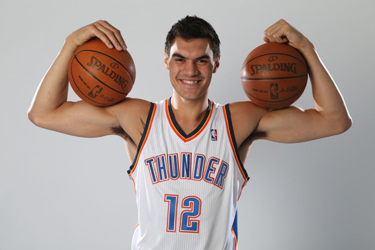 Steven Adams at his photoshoot Getty Images.