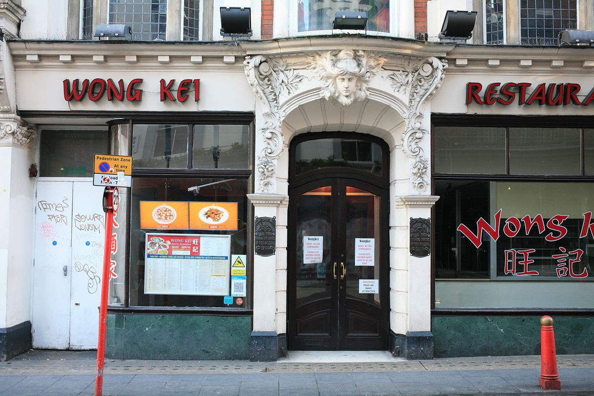 Wong Kei, a Chinatown institution, closed during the coronavirus lockdown in London