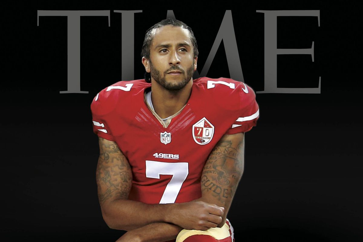 Colin Kaepernick takes a knee