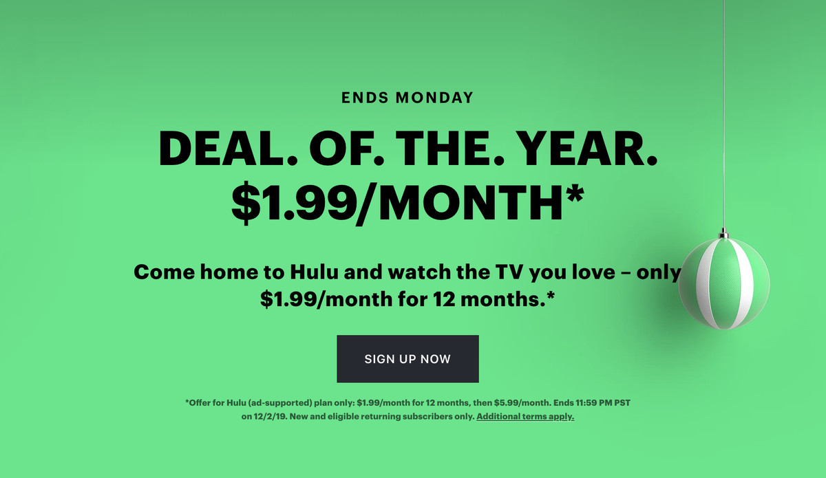 Hulu S Black Friday Deal Offers 2 Per Month Subscription For One Year The Verge