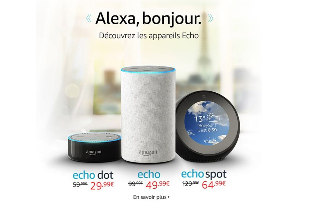 amazon echo and alexa are now available in france the verge. Black Bedroom Furniture Sets. Home Design Ideas