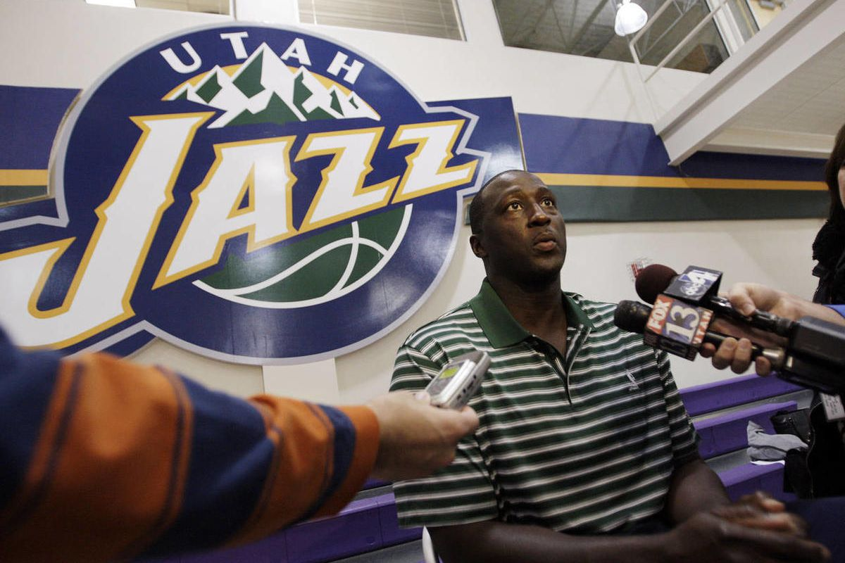 Utah Jazz coach Ty Corbin talks with media at the Zions Bank Basketball Center in Salt Lake City Thursday, Oct. 6, 2011.
