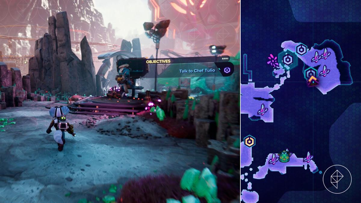 Ratchet & Clank: Rift Apart collectibles guide: Blizar Prime Blizon Mines