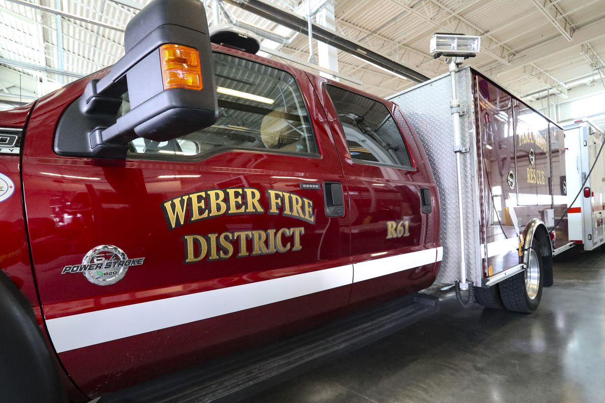 Vehicles at Weber Fire District Station No. 61 are pictured in Farr West on Thursday, March 25, 2021.