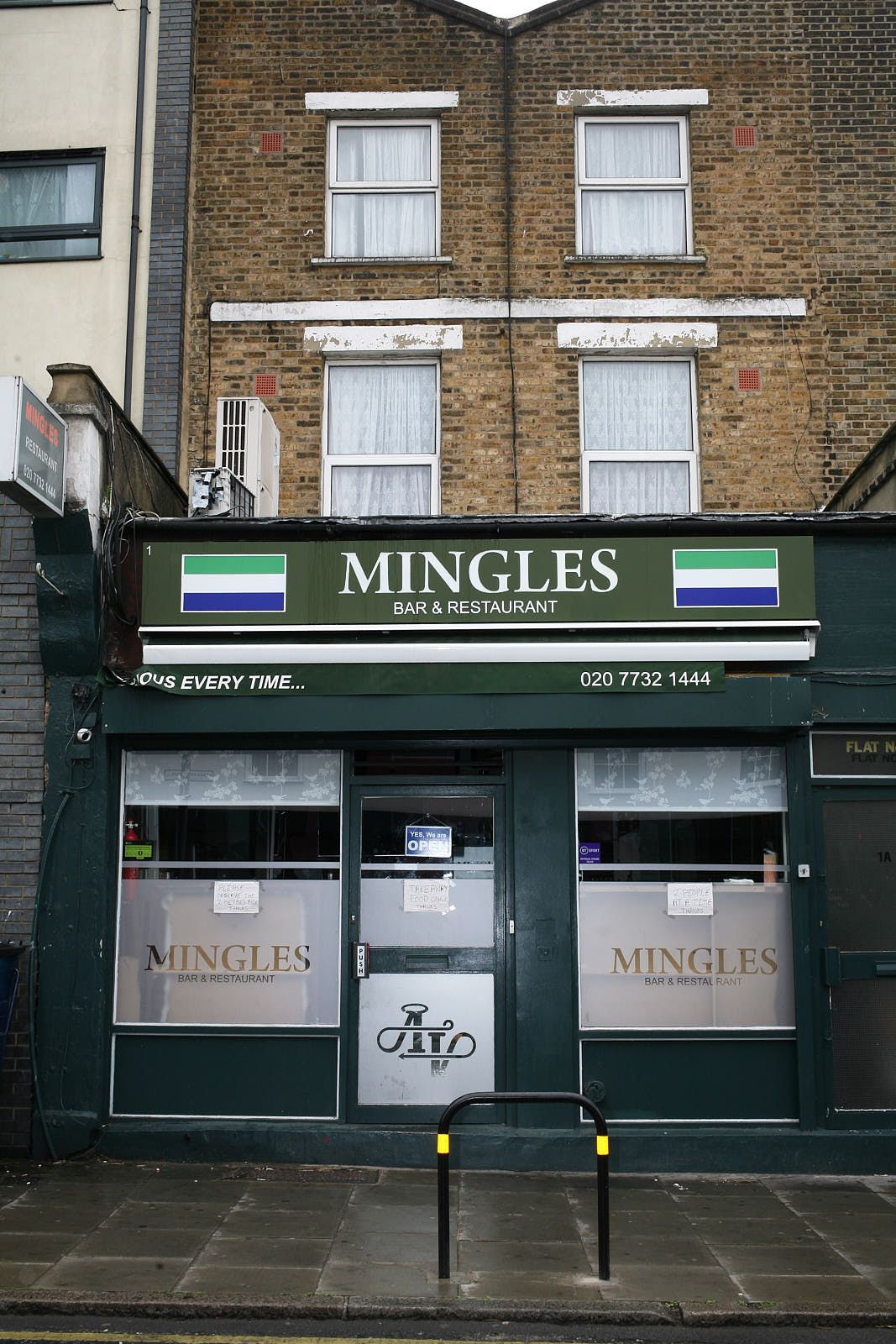 Sierra Leonean restaurant and bar, Mingles, on Old Kent Road