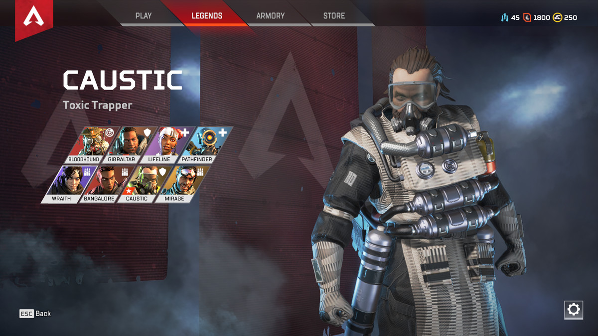 Apex Legends Caustic character select
