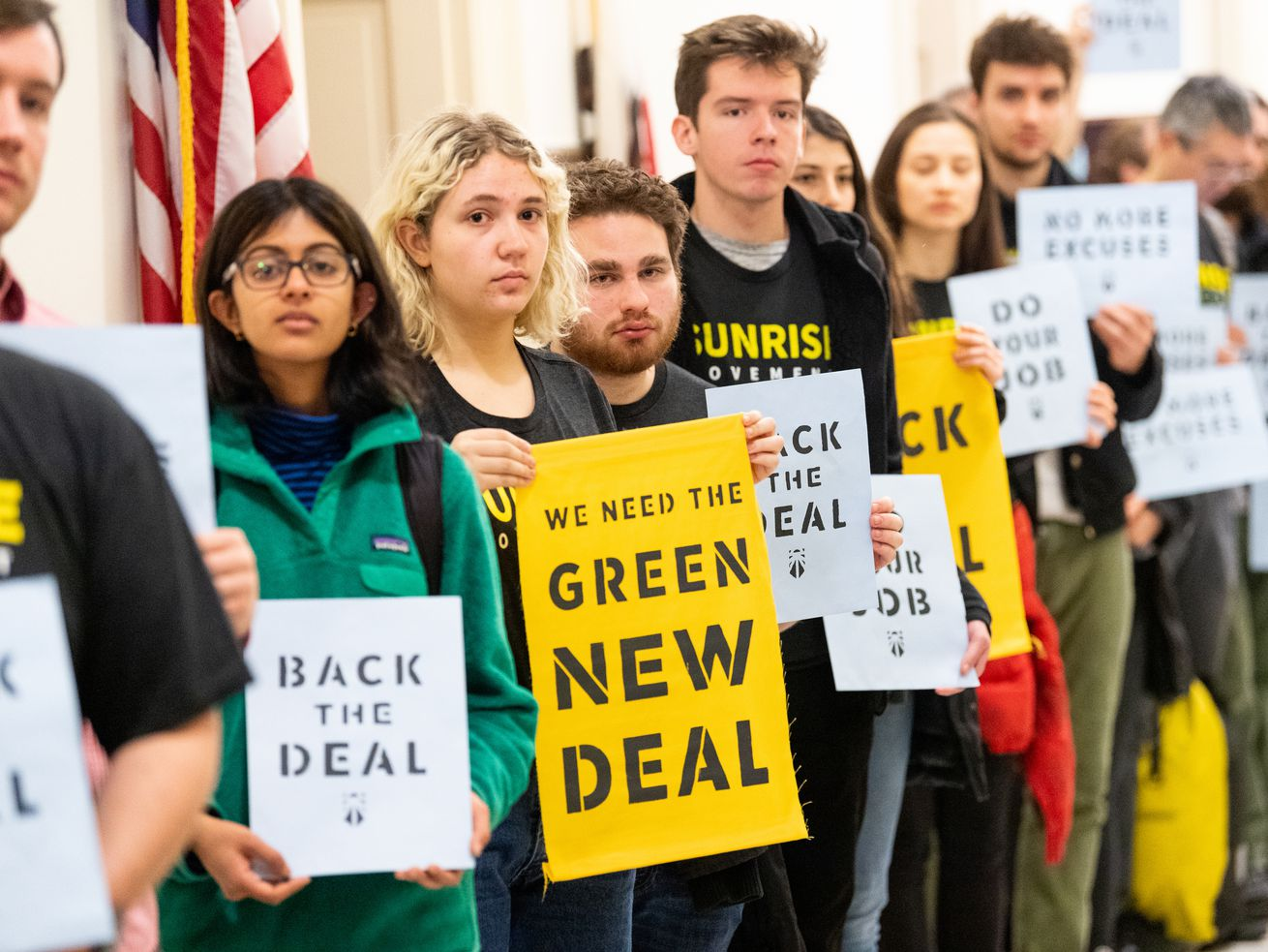 Growing support for a Green New Deal was a major development in climate change and energy policy in 2018.